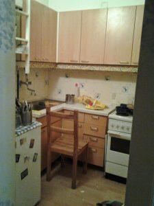 messie küche vorher